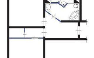 Перепланировка в квартире П-44т по проекту