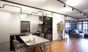 Объединение кухни с газовой плитой и комнаты