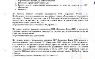 Протокол заседания правления СНТ: образец, бланк
