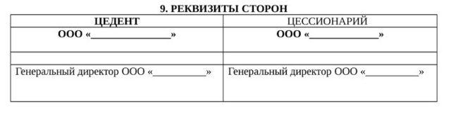 Договор уступки прав цессии: образец, бланк, скачать