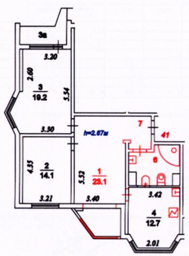 Красные линии при перепланировке квартиры в техпаспорте