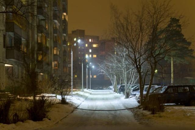 Освещение придомовой территории многоквартирного дома