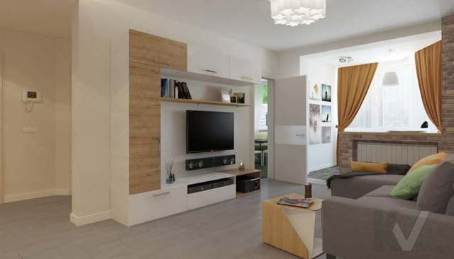 Объединение однокомнатной и трехкомнатной квартиры в серии П44
