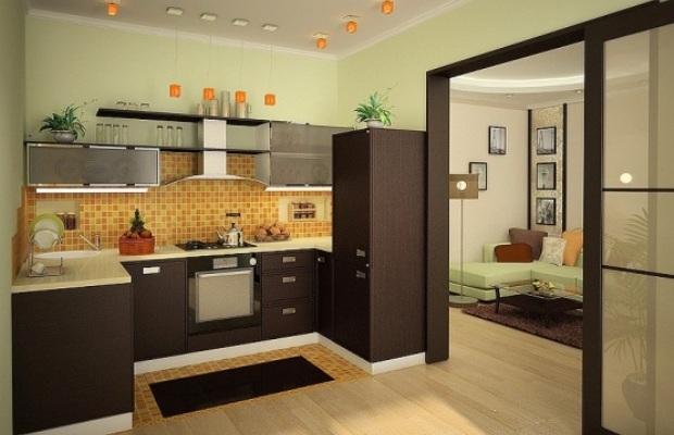 Объединение кухни и комнаты в однокомнатной квартире