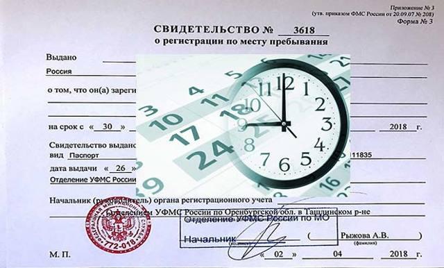 На какой срок делается временная регистрация?