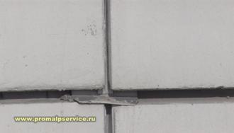 Как выполнить обследование межпанельного стыка плит?