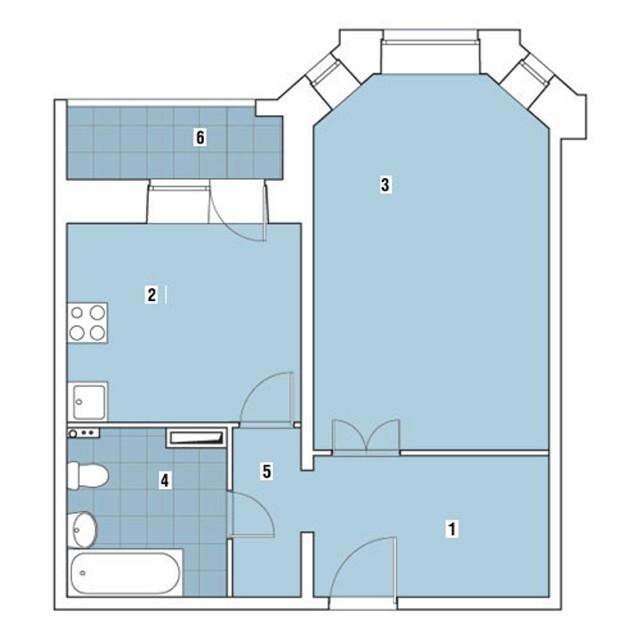 Объединение квартир в доме серии И-79-99 при перепланировке