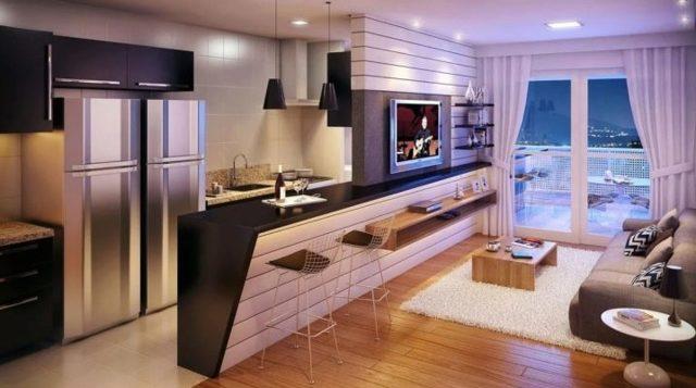 Перенос кухни в однокомнатной квартире при перепланировке